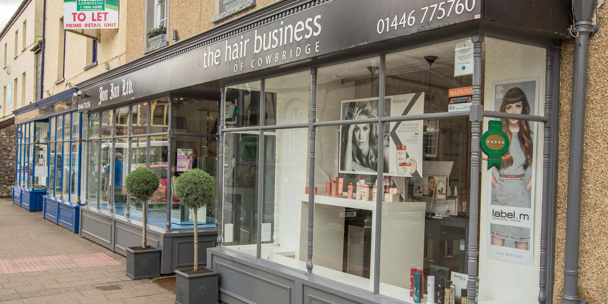 The Hair Business - Penarth salon outside