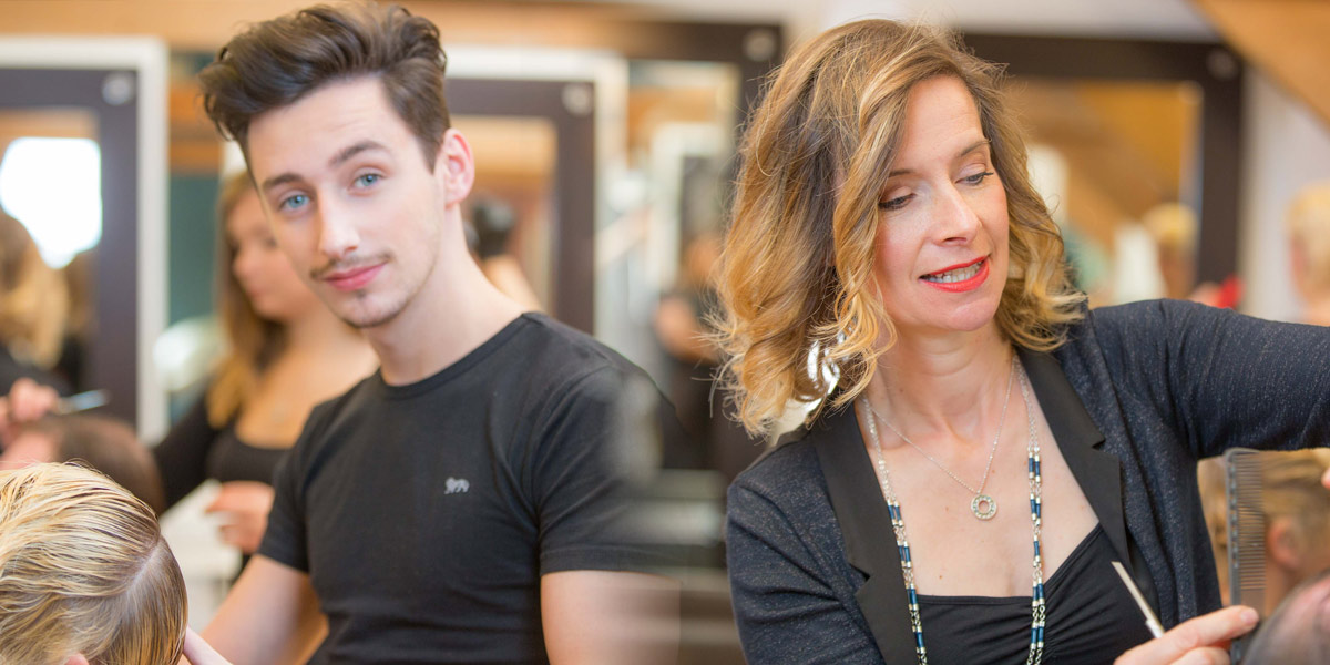 The Hair Business - Cowbridge staff in action