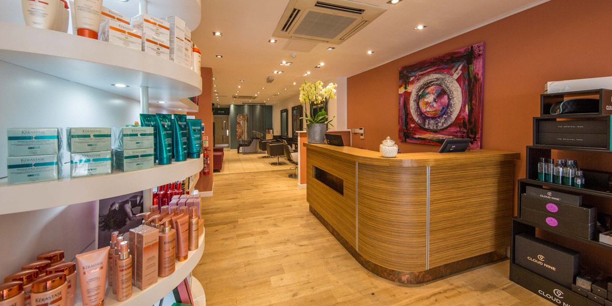 The Hair Business - Cowbridge salon reception